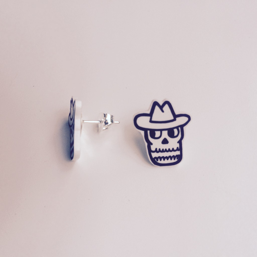 Outlaws and Skeletons Earrings