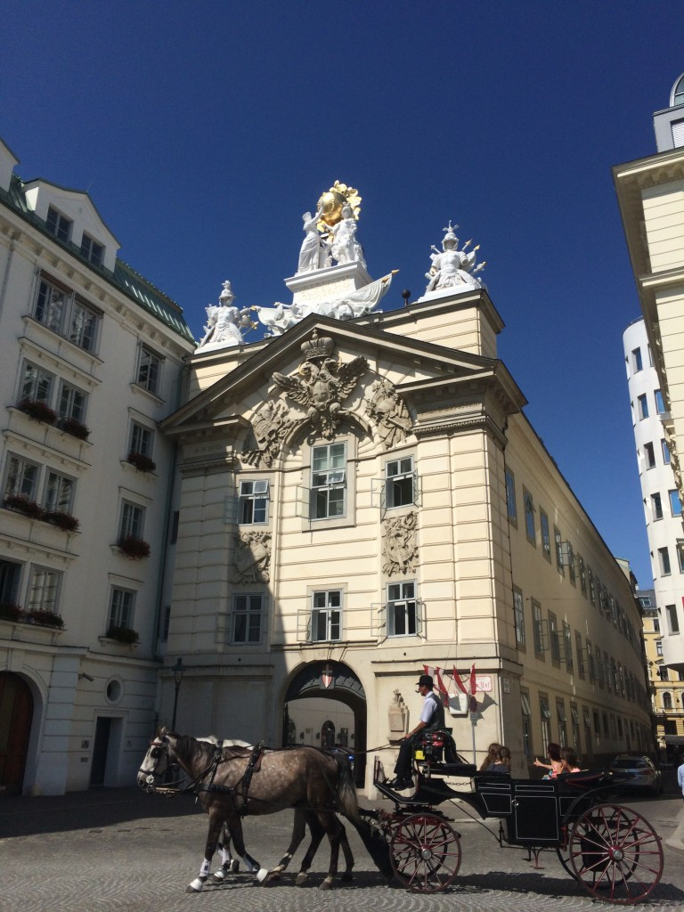 Horse and carriage ride in Vienna