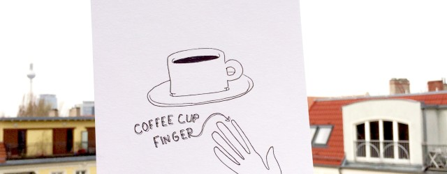 Coffee cup finger illustration by Outlaws and Skeletons