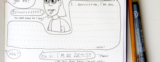 Telling people you are an artist